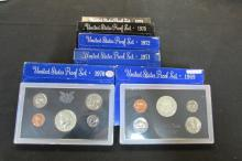 6 US PROOF COIN SETS 1969-1974 IN GOVT PACKAGES