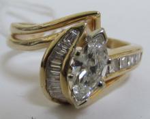 MARQUISE DIAMOND RING 1.25CT 14K GOLD