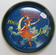 MILLER HIGH LIFE BEER ADVERTISING AD TIN SIGN