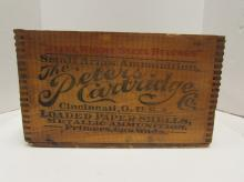 PETER'S CARTRIDGE WOODEN AMMO AD BOX CRATE
