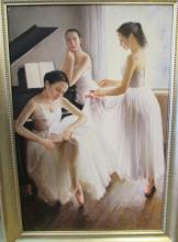 Signed 'Rogers' Painting of Ballet Dancers