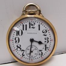 HAMILTON 992B POCKET WATCH 21 JEWEL GF RR