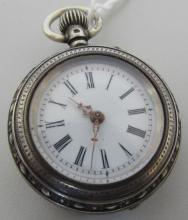 800 STERLING SILVER LEVER SET POCKET WATCH