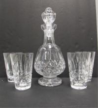 WATERFORD CRYSTAL DECANTER & GLASS SET KYLEMORE