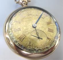 21 JEWEL POCKET WATCH DUEBER UNIQUE GOLD DIAL1916