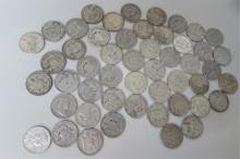 50 BEN FRANKLIN SILVER HALF DOLLAR US COIN $25