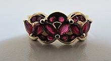 1.5CT RUBY RING 14K GOLD 5.3 GRAMS SIZE 7