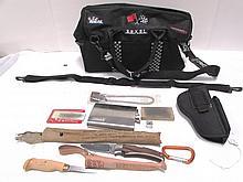 BUG OUT BAG SURVIVAL LOT CAMPING KNIFE LIGHTER GUN