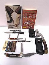 KNIFE LOT CASE SCHRADE SABRE LEATHERMAN COLLECTOR