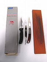 KNIFE LOT & NORTON STONE CASE xx KERSHAW SEKI
