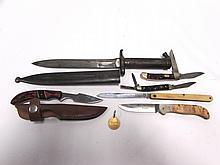 KNIFE LOT MAUSER BAYONET BULLDOG KELLAM BOKER TREE
