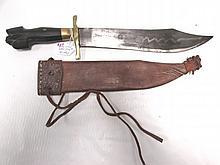 BOWIE KNIFE & SHEATH FILIPINO HANDMADE NEGRITO
