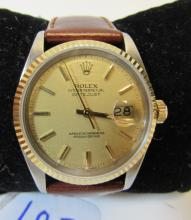 ROLEX WATCH 18K GOLD & STAINLESS STEEL DATEJUST