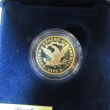 $5 COIN 22K GOLD PROOF 1906-2006 US MINT