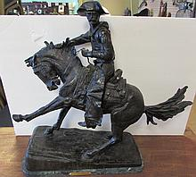 FREDERIC REMINGTON BRONZE COWBOY SCULPTURE FIGURE