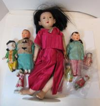 8 ASIAN CHINESE DOLLS PORCELAIN & COMPOSITION