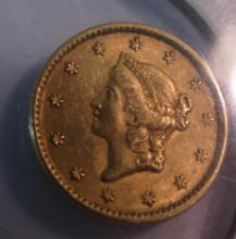 1851 US $1 DOLLAR GOLD COIN