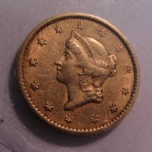 1852 US $1 DOLLAR GOLD COIN