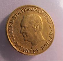 1916 MCKINLEY $1 DOLLAR GOLD COMMEMORATIVE