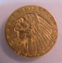 1915 GOLD 2 1/2 DOLLAR INDIAN COIN