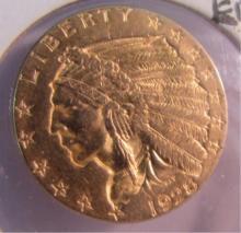 1928 US $2 1/2 DOLLAR GOLD INDIAN COIN