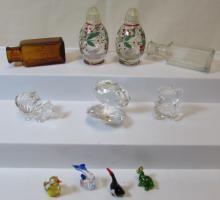 11PC MINIATURE HAND BLOWN GLASS LOT
