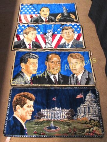 4 Tapestry Rug Wall Hanging Jfk Kennedy Ml King