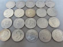 20 EISENHOWER  DOLLARS US COINS