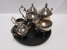BIRMINGHAM SILVER CO SILVERPLATE TEA SET TRAY
