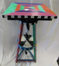 MACKENZIE CHILD'S STYLE ROTATING ART TABLE