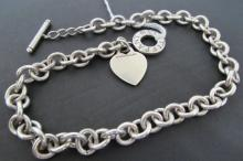 TIFFANY & CO NECKLACE TOGGLE STERLING SILVER