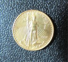 1992 GOLD EAGLE $5 US COIN