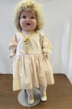COMPOSITION BABY DOLL 1930s 27 INCH