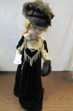 1950s DOLL PLASTIC 27 INCH TALL VICTORIAN STYLE