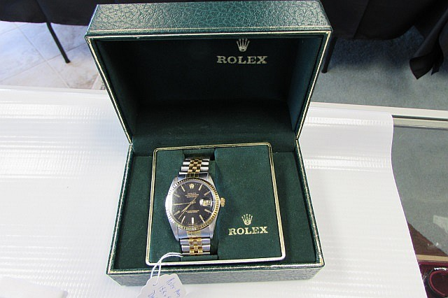 Rolex Mans 18KT & Stainless Datejust in Box
