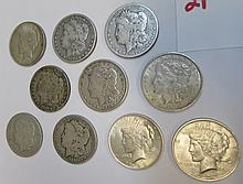 Lot 10 US Silver Dollars