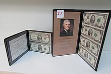 Lot of 2 Paper Money $2 Sheet of 4 and Silver Cert