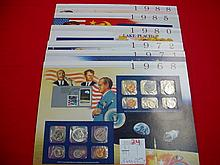 Lot 8 Commemorative US Mint Sets 1968-88 World Eve