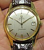 18k Omega Seamaster Automatic Leather Band