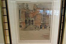 Signed Numbered Cecil Aldin Print Brick Schoolyard