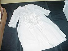 Antique Victorian Baptismal Dress & Bonnet.