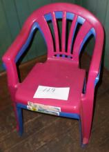 Lot of 2 Plastic Child's Chairs