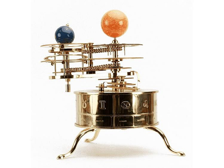 A Modern Clockwork Orrery, planetarium showing