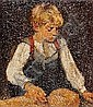 AIGENS, CHRISTIAN (1880-1951) Kauernder blonder