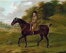 Sartorius, John N.  - Gentleman on a Bay Hunter, Oil on board, 13 1/4 x 16 1/2