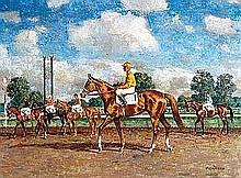 Menasco, Milton - Saratoga, Oil on canvas, 18 x 24