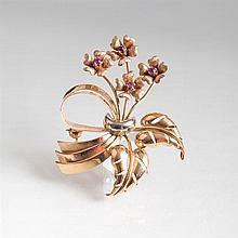 A flower brooch