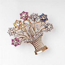 A diamond brooch 'Flower basket'
