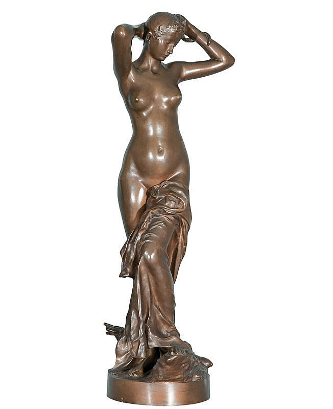 A bronze figure 'La Toilette de Diane'