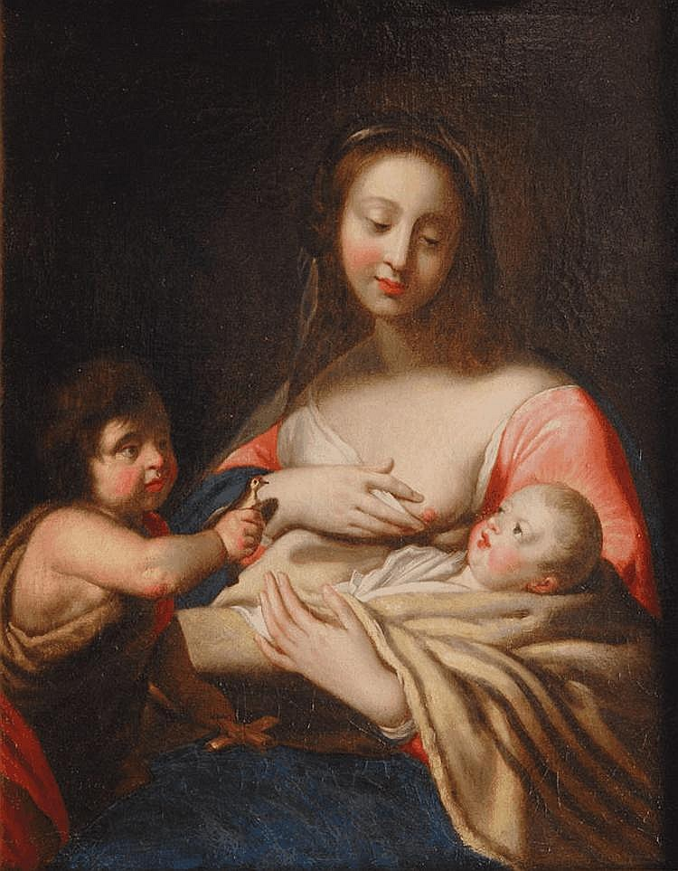 Mary with the Child and the infant St. John